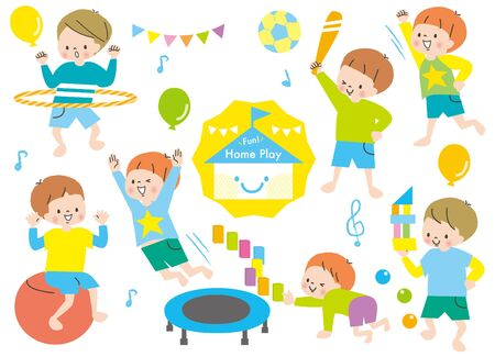 Energetic Boys Play Set Rhythmic
