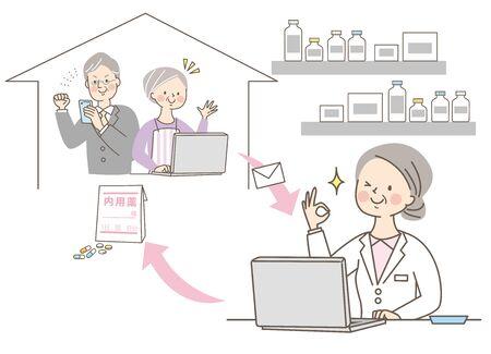 Senior Female Doctor Pharmacist White Coat Online