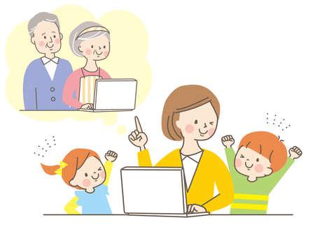 Online PC Senior Parent and Child Mom