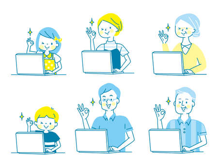 The expression set of the family to sign OK with the personal computer