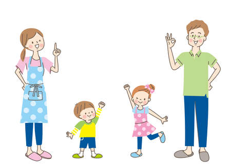 Cute family set with a smile