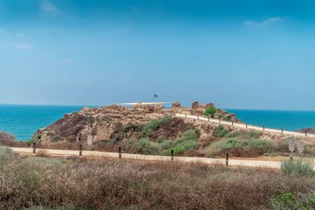 Apollonia ancient coastal city ruins excavated outside of Tel Aviv Israel