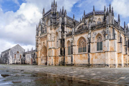 Aerial view of the monastery complex in Batalha one of the seven wonders of Portugal Editorial