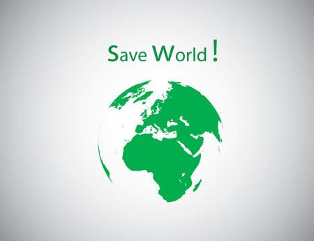 save the world: save world symbol. vector illustration EPS10.