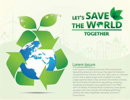 save the world: save world, concept of infographics. Vector illustration EPS10.