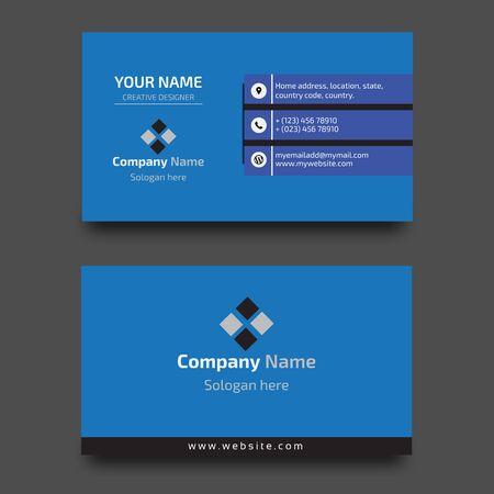 Plantilla de diseño de tarjeta de visita corporativa