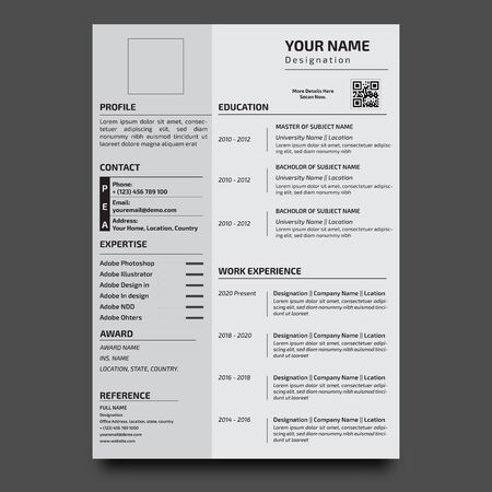 Corporate Resume Design template - vector