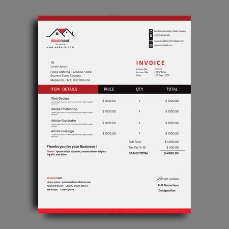 Business Invoice design template