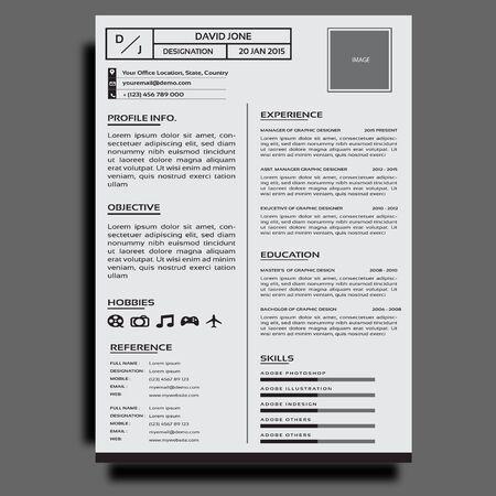 CORPORATE RESUME OR CV DESIGN TEMPLATE Vetores