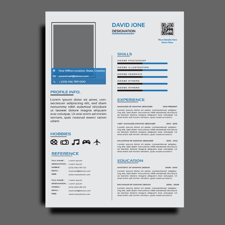 Corporate with modern resume or cv template