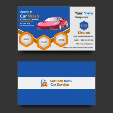 Car wash company employee's business card design