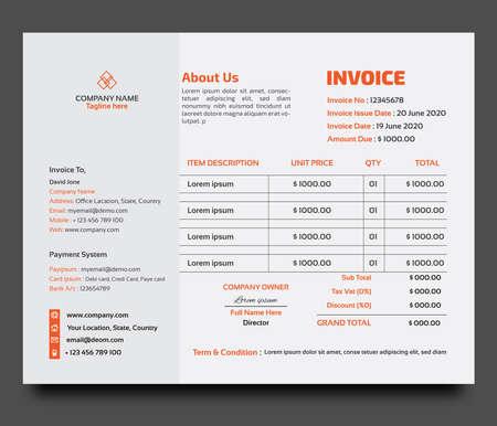 Corporate Business invoice design template