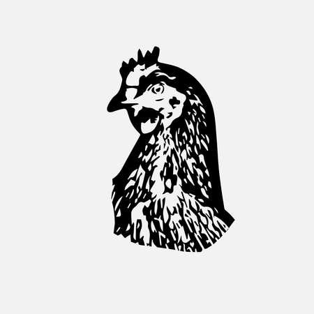Chicken logo design 向量圖像