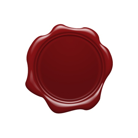 seal brown: Red wax seal
