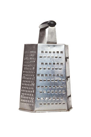 metal grater: Metal grater on white background Stock Photo