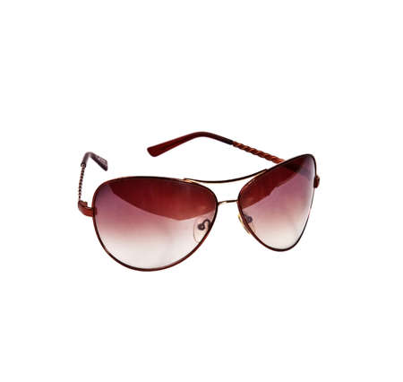 dimming: Sunglasses on white background