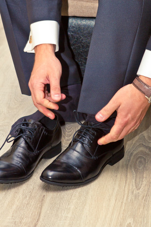 man and shoes photo