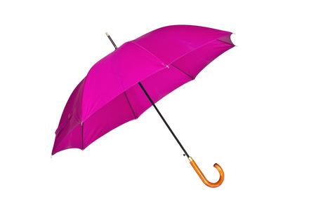 precipitaci�n: P�rpura, abrir un paraguas en un fondo blanco