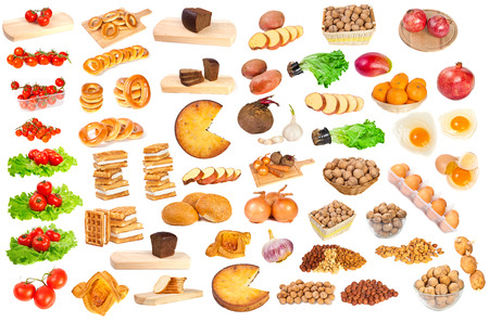 food on a white background photo