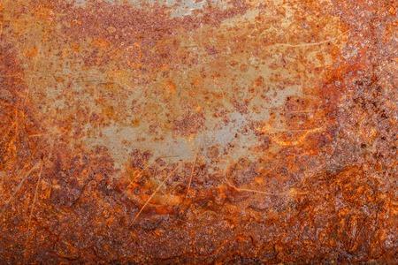 Blech aus rostigem Metall. oxidierter Hintergrund Standard-Bild