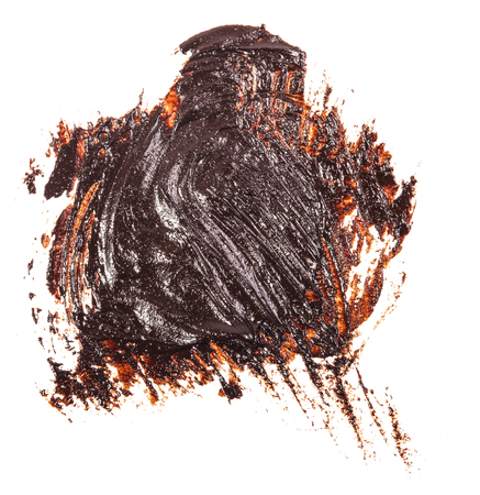 Stain of oil brown paint on white