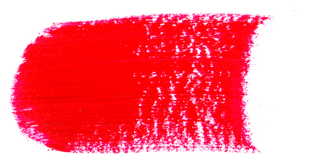 Stain of oil red paint on white Imagens