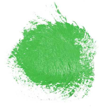 Stain of oil green paint on white