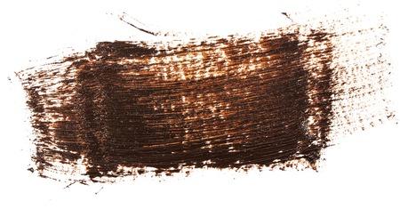 smudge brown oil paint on white Reklamní fotografie