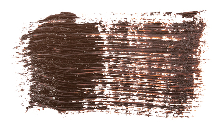 smudge brown oil paint on white Imagens