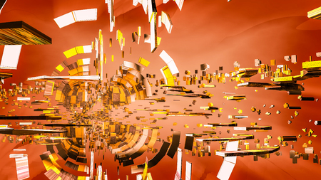 abstract background of three-dimensional particles. three-dimensional. 3D rendering Stock Photo