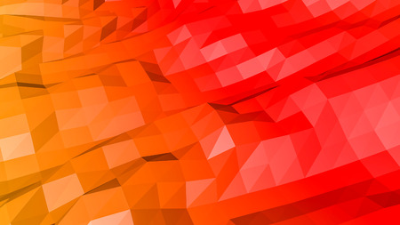 red orange low polygonal. 3D rendering Stok Fotoğraf