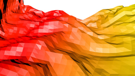 red orange low polygonal background. 3D rendering Stok Fotoğraf