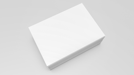 Stacks of white sheets of paper on a gray. 3d rendering