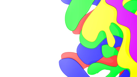 Abstract multicolored three-dimensional. 3d rendering