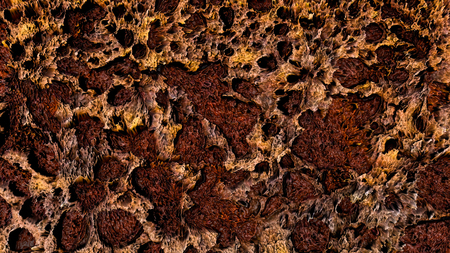 brown abstract three-dimensional background. 3d rendering Stock Photo