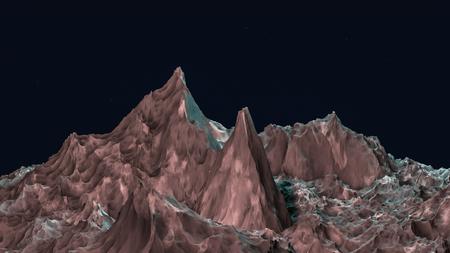 fantastic landscape. 3d render