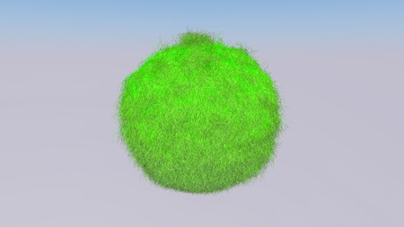 green down three-dimensional object. illustration. 3d RENDERING Imagens