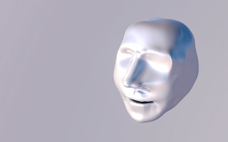 abstract model of the human head. 3d RENDERING