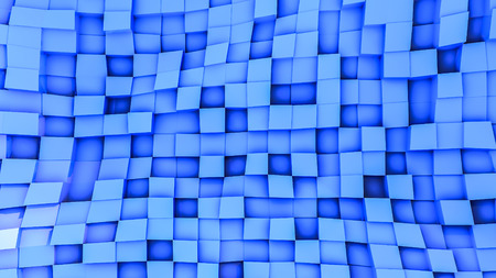 blue convex cubes three-dimensional. abstract illustration. 3d RENDERING 版權商用圖片
