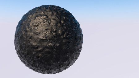 bumpy model of the sphere. 3D rendering Stock Photo