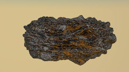 bumpy model of an abstract stone. 3D rendering Stock Photo