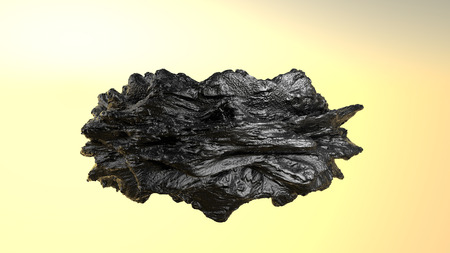 bumpy model of an abstract stone. 3D rendering 写真素材