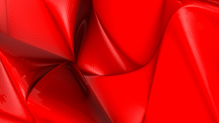 red deformed plane. abstract background. 3d render Stock Photo