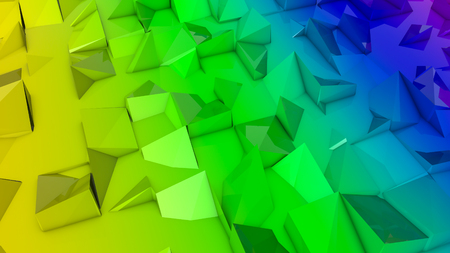 rainbow deformed plane. abstract background. 3d render