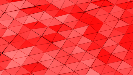 red deformed plane. abstract background. 3d render Imagens - 123004887