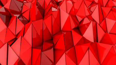 red deformed plane. abstract background. 3d render Stok Fotoğraf - 123004890