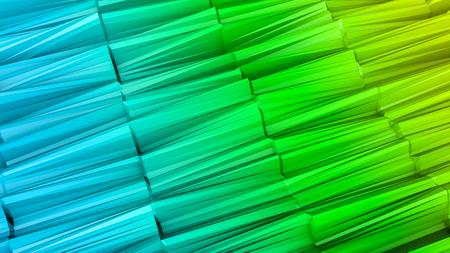 three-dimensional plane of iridescent color. 3d render Banco de Imagens - 123004897