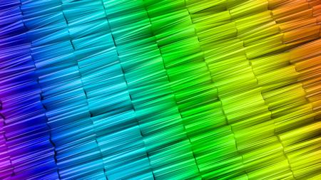 three-dimensional plane of iridescent color. 3d render Banco de Imagens - 123004905