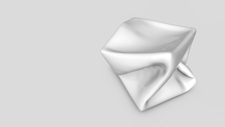 Abstract white three-dimensional shape. 3d render