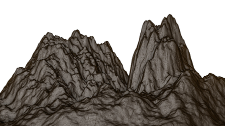 three-dimensional landscape. 3d render Stock Photo